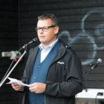 Borgmester Lars Krarup holdte båltalen i Kibæk.